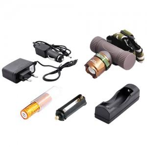 Ультрафиолетовый фонарь на лоб Police 6866-UV365 nm, ЗУ 220V/12V, ultra strong, zoom