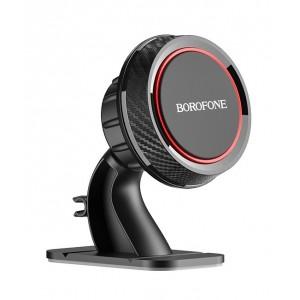 Автодержатель BOROFONE BH13 Journey center console magnetic Black Red