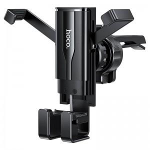 Автодержатель Hoco CA72 Phantom air outlet hidden gravity in-car holder Black