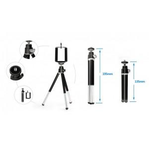 Мини штатив AS2 L195mm для смартфона и фотоаппарата Black