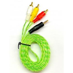 Кабель Audio-Video 3,5mm-3 RCA 1,5m silicon color
