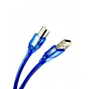 Кабель USB 2.0 AM/BM принтер 1,5м силикон феррит Blue
