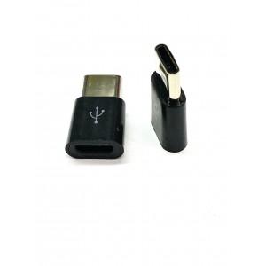 USB Type C 3.1 папа- Micro USB мама Black тех.пак