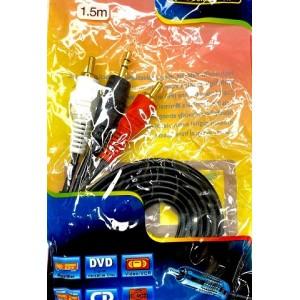 Кабель Audio-Video 3,5mm-2 RCA 1,5m /packing