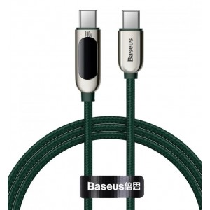 PD кабель Baseus Display Fast Charging Data Cable Type-C to Type-C 100W 1m Green CATSK-B06