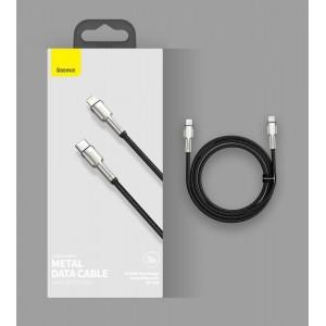 PD кабель Baseus Cafule Series Metal Data Cable Type-C to iP PD 20W 1m Black CATLJK-A01