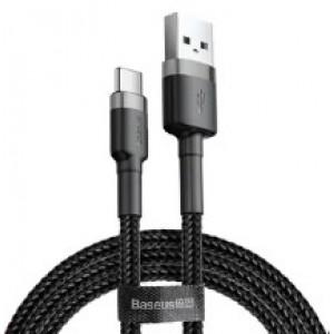 Кабель Baseus Cafule Cable USB For Type-C 3A 2m Gray+Black