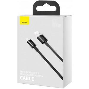 USB кабель Baseus Superior Series Fast Charging Data Cable USB to Type-C 66W 1m Black CATYS-01