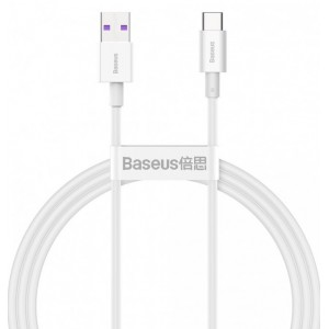 USB кабель Baseus Superior Series Fast Charging Data Cable USB to Type-C 66W 1m White CATYS-02