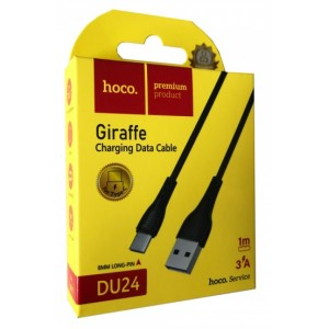 Кабель HOCO DU24 GIRAFFE Charging Data Cable for Type-C long pin(8mm)/3A/1m. Black