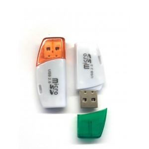 Картридер S-013 TF microSD color mix