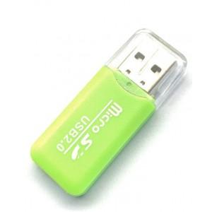 Картридер S-010 TF microSD color mix