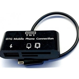 OTG картридер 3 in 1 Black