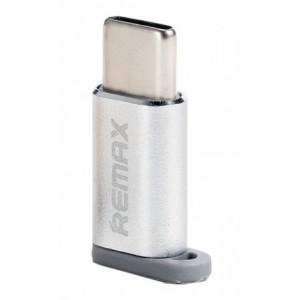 Переходник REMAX Micro -Type-C Feliz RA-USB1 Silver