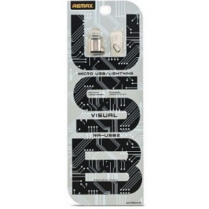 Переходник REMAX Micro-Lightning RA-USB2 Silver