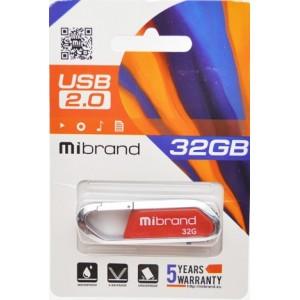 USB 2.0 Mibrand Aligator 32Gb Dark Red