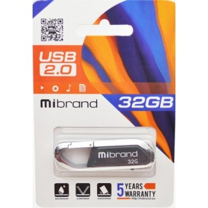 USB 2.0 Mibrand Aligator 32Gb Grey