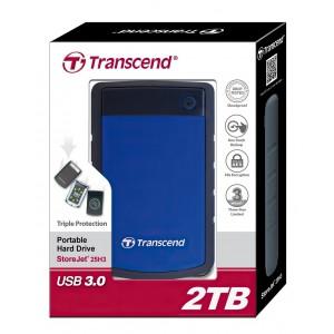 Внешний жесткий диск 2.5'' Transcend USB 3.0 25H3 2Tb Blue