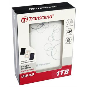 Внешний жесткий диск 2.5'' Transcend USB 3.0 25A3W 1Tb SATA