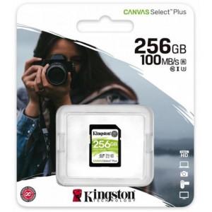 SDXC (UHS-1 U1) Kingston Canvas Select Plus 256Gb class 10 V10 (R-100MB/s)