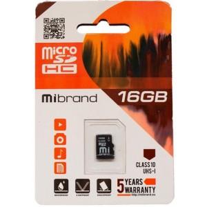 microSDHC (UHS-1) Mibrand 16Gb class 10