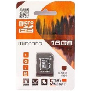 microSDHC (UHS-1) Mibrand 16Gb class 10 (adapter SD)
