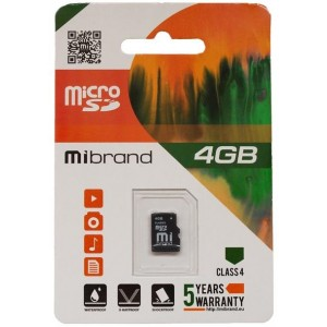 microSDHC Mibrand 4Gb class 6