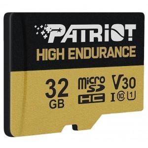 microSDHC (UHS-1 U3) Patriot High Endurance 32Gb class 10 V30 (R-95MB/s)
