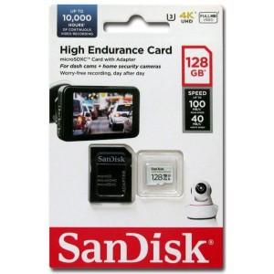 microSDXC (UHS-1 U3) SanDisk High Endurance 128Gb class 10 V30 (100Mb/s) (adapterSD)