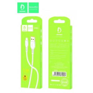 Кабель Denmen D06L USB - Lightning 2.4A/1m White