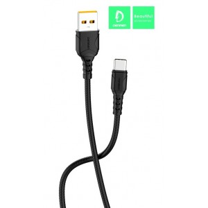 Кабель Denmen D06T USB - Type-C 2.4A/1m Black