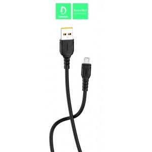 Кабель Denmen D06V USB - micro USB 2.4A/1m Black