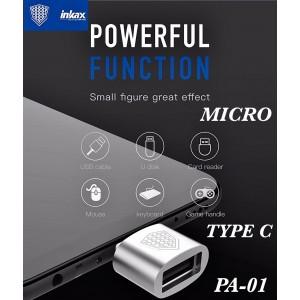 Переходник OTG INKAX PA-01 USB - Type-C Silver