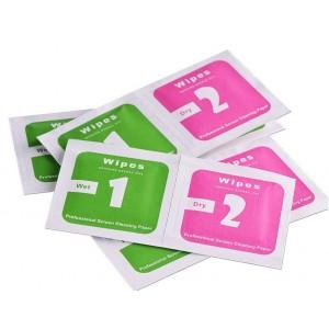 Комплект салфеток для протирки экрана телефона 2в1 размер 4*4 S 100 шт.