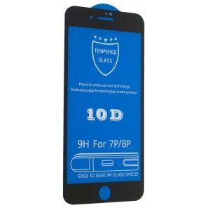 Защитное стекло 10D for iPhone 7 PLUS / 8 PLUS black тех упаковка