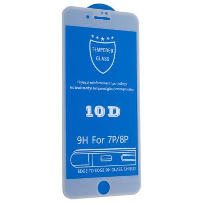 Защитное стекло 10D for iPhone 7 PLUS / 8 PLUS white тех упаковка