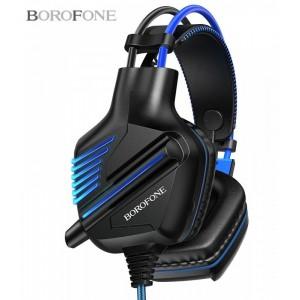 Наушники BOROFONE BO101 Racing GAMING with mic blue