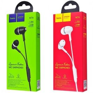 Наушники HOCO M76 Maya universal earphones Black