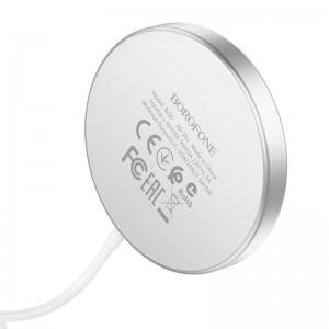 Беспроводное ЗУ MagSafe BOROFONE BQ9 Pro Original series 5W/7.5W/10W/15W silver
