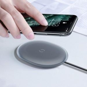 Беспроводное ЗУ Baseus Jelly wireless charger 15W Black WXGD-01