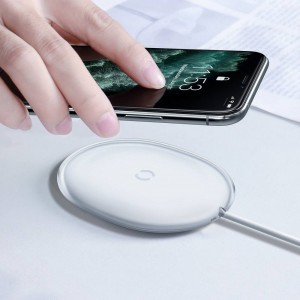 Беспроводное ЗУ Baseus Jelly wireless charger 15W White WXGD-02