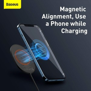 Беспроводное ЗУ Baseus Light Magnetic Wireless Charger Black WXQJ-01