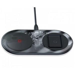 Беспроводное ЗУ Baseus Simple 2in1 Turbo Edition 24W (With 12V Charger)(Qi) Black TZWXJK-B01