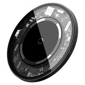 Беспроводное ЗУ Baseus Simple Magnetic Wireless Charger (suit for IP12) Transparent WXJK-E02