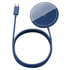 Беспроводное ЗУ Baseus Simple Mini Magnetic Wireless Charger Blue WXJK-H03