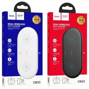 Беспроводное ЗУ HOCO CW23 Dual Power (2-in-1) 10W/3A/Type-C Cable White
