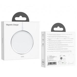 Беспроводное ЗУ HOCO CW30 Original magnetic wireless fast charger MagSafe/15W Silver