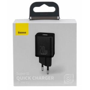 СЗУ Baseus Super Si Quick Charger 1C 20W EU Black CCSUP-B01