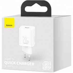 СЗУ Baseus Super Si Quick Charger 1C 20W EU White CCSUP-B02