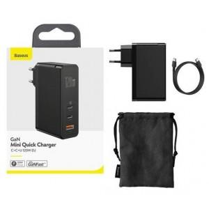 СЗУ Baseus GaN2 Pro Quick Charger 2C+U 120W/Xiaobai Cable Type-C to Type-C 100W 1m Black CCGAN-J01